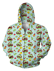 Festival/Holiday Halloween Costumes Cyan Print Christmas Unisex Polyester