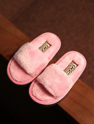 Girl's Slippers & Flip-Flops Spring Fall Winter Fleece Casual Flat Heel Pink Purple