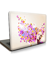 pour macbook air 11 13 / pro13 15 / pro avec retina13 15 / macbook12 pétales beauté apple ordinateur portable cas