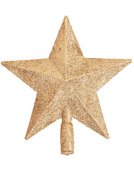 Holiday Props Christmas Decorations Christmas Party Supplies Christmas Tree Ornaments Holiday Supplies Stars Plastic Golden8 to 13 Years