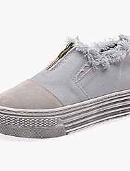 Women's Loafers & Slip-Ons Spring Summer Fall Comfort Synthetic Casual Low Heel Gore Blue Beige Walking