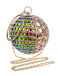 L.west Women Elegant High-grade Spherical Diamonds Evening Bag