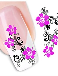 1sheet  Water Transfer Nail Art Sticker Decal XF1434