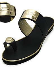 Women's Sandals Spring Summer Fall Mary Jane Pu Casual Low Heel Buckle Black Brown