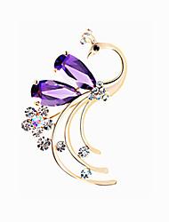 mulheres de liga leve jóias broche roxo 1ps
