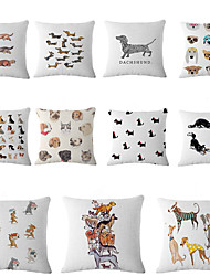 Cute Dog Designed Style Cushion Covers Car Seat Covers For Sofa Home Decor Chair Pillowcase 17.7'X17.7' (45CMx45CM)