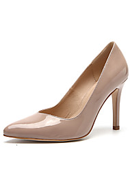 Women's Heels Spring Summer Fall Patent Leather Wedding Party & Evening Casual Stiletto Heel Black Nude