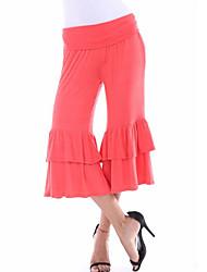 Femme Boot Cut Chino Pantalon,simple Street Chic Sortie Décontracté / Quotidien Couleur Pleine Taille Normale Elasticité Polyester