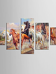 Canvas Set Abstract / Animal Style / Modern,Five Panels Canvas Any Shape Print Wall Decor For Home Decoration