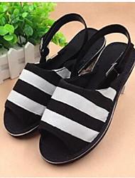 Women's Slippers & Flip-Flops Comfort Canvas Casual Black Blue