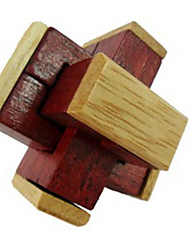 Kong Ming Lock Toys Wood Dark Red For Boys / For Girls 5 to 7 Years / 8 to 13 Years / 14 Years & Up