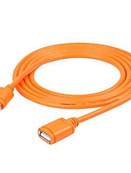 Choseal USB2.0 High-Speed (A / M-A / F) Extension Cable Computer Peripheral Cable 3 Meters