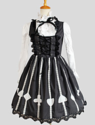 One-Piece/Dress / Blouse/Shirt Classic/Traditional Lolita Elegant Cosplay Lolita Dress Gray Solid / Jacquard Long Sleeve Knee-lengthShirt