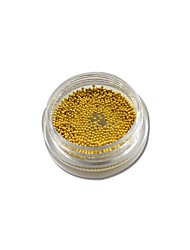 1Bottle 3g Jar Shining 0.8mm-2mm 3D Nail Art Decorations Gold Silver Metal Beads For Nail Art Decoration NJ251