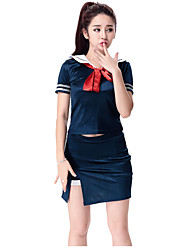 Cheering Squad Japan School Uniform Dress Sailor Girl Lady Lolita  Costumes Solid Top / Skirt