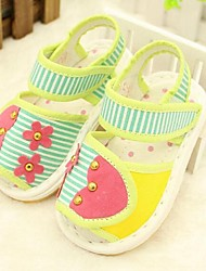 Kids' Girls' Baby Sandals Comfort Cotton Casual Comfort Coffee Green Flat