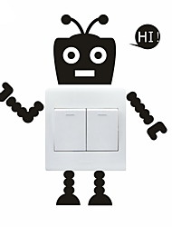 AYA™ DIY Wall Stickers Wall Decals, Lovely Funny Robot Pattern Light Switch Stickers