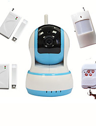 Wifi CCTV HD IP Camera Video Intruder Alarm Home Security System With Wireless Burglar Alarme Sensor, Baby Monitor