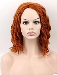 Europa e os Estados Unidos luz moda lado marrom cabelo curto encaracolado colchão roll star com a peruca fio de alta temperatura