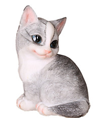 Display Model Model & Building Toy Toys Novelty Cat Rubber White Gray For Boys For Girls