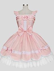 One-Piece/Dress Sweet Lolita Princess Cosplay Lolita Dress Solid Sleeveless Knee-length Dress For Cotton