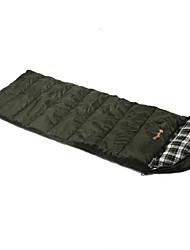Schlafsack Rechteckiger Schlafsack Einzelbett(150 x 200 cm) -15-20 T/C Baumwolle Hohlbaumwolle 300g 200X80Wandern Camping Reisen Jagd