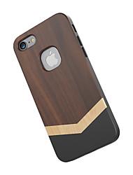 Per Resistente agli urti Custodia Custodia posteriore Custodia Simil-legno Resistente Legno per Apple iPhone 7