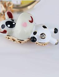 милый маленький корова автомобиль брелок для ключей