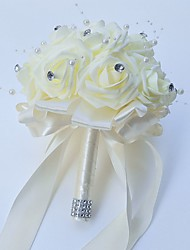 "Wedding Flowers Round Roses Bouquets Wedding Party/ Evening Satin Foam 7.87""(Approx.20cm)"