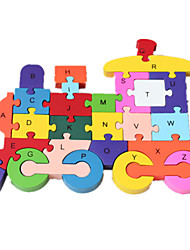 Jigsaw Puzzles Jigsaw Puzzle Building Blocks DIY Toys Train 1 Wood Rainbow