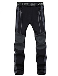 Men Autumn Winter Outdoor Sports Casual Waterproof Trousers Quick Drying Hiking Soft Shell Fleece Pant Ski Climbing Hiking Warm Pants