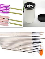 1set инструмент ногтей комплект (15pcs ногтей перо + 1шт ногтей специальный ручка + 1шт ногтей мыть ручки чашки)