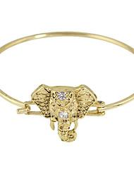 Cheap Wholesale Gold Plated Rhinestone Thin Bracelet Bangle