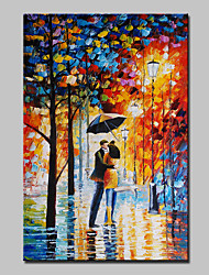 Hand Painted Streets Of Lovers Landscape Oil Painting On Canvas Modern Abstract Wall Art Picture For Home Decoration Ready To Hang