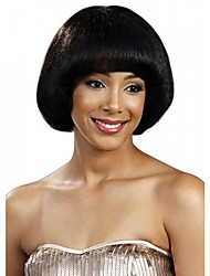 Bobo New Style with Full Bang Short Length Black Fashion Capless Wig Heat Resistant for Black Women