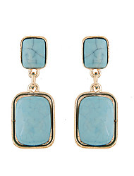 Fashion Square Drop Earrings Jewelry Women Square 1 pair Blue