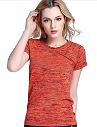 Women's Short Sleeve Running Tops Breathable Quick Dry Spring Summer Fall/Autumn Sports WearExercise & Fitness Racing Basketball