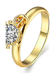 Ring AAA Cubic Zirconia Zircon Cubic Zirconia Gold Plated Rose Gold Plated Gold Rose Jewelry Casual 1pc