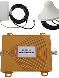 CDMA/PCS Mobile Phone Signal Amplifier 850/1900MHz Signal Booster Dual Frequency Planar Antenna Outdoor Host  10 Meter 50-5 Cable  Indoor Ceiling a