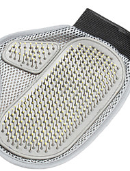 Cat / Dog Cleaning Brush / Baths Pet Grooming Supplies Double-Sided / Massage Gray Fabric / Stainless Steel