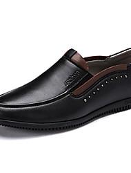 Черный / Коричневый / Желтый Мужская обувь Для прогулок / Для офиса / На каждый день Кожа Лоферы