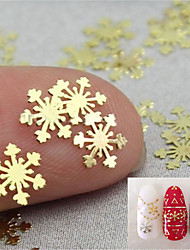10pcs/lot  Nail Snowflakes Metal  Jewelry
