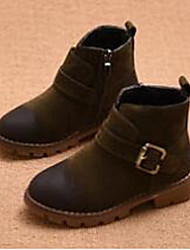 Girl's Boots Comfort Suede Casual Black Green Burgundy
