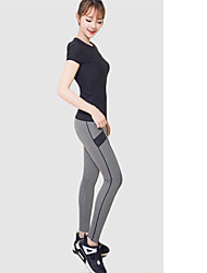 Running Tights / Sweatshirt / Tank Women's Short Sleeve Breathable / Quick Dry / Sweat-wicking / Comfortable Spandex / LYCRA®Yoga /
