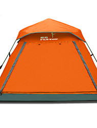 3-4 persons Tent Triple One Room Camping Tent 1000-1500 mm Fiberglass Oxford Moistureproof/Moisture Permeability Breathability Keep Warm-