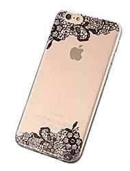 Pour Coque iPhone 7 Coques iPhone 7 Plus Coque iPhone 6 Coques iPhone 6 Plus Transparente Motif Coque Coque Arrière Coque A Dentelle