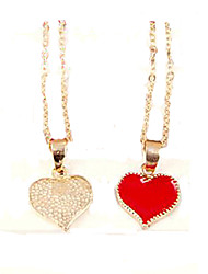 Women's Pendant Necklaces Alloy Heart Fashion White Black Red Jewelry Party 1pc