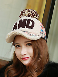 Autumn And Winter With Bulky Thick Letters AND Baseball Cap Fashion Warm Caps