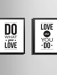 E-HOME® Framed Canvas Art Letters of Love Theme Series Framed Canvas Print One Pcs
