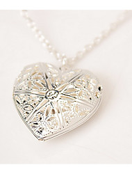 Necklace / Pendant Necklaces Jewelry Daily Casual Valentine Heart Heart Sterling Silver Women 1pc Gift As Per Picture